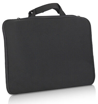 """15.6"""" Stylish Black Laptop Notebook Sleeve Bag Case Cover Skin for Dell Sony HP"""