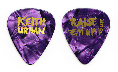 Keith Urban Purple Pearl Guitar Pick - 2015 Raise Em Up Tour
