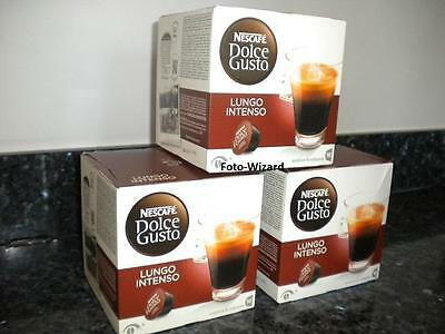 Nescafe Dolce Gusto 48 Lungo Intenso Pods New Coffee 3 Boxes X 16