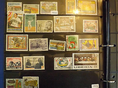 Selection of Liberia stamps FU