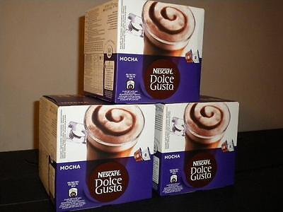 Dolce Gusto 48 Mocha Pods 3 X 16 New Coffee Hot Chocolate Mocca