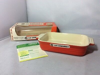 2001 Anchor Butter Le Creuset Rectangular 19cm Dish Volcanic Red Unused In Box