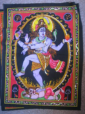 Cloth Sequined Wall Hanging Of Dancing Shiva