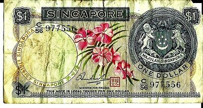 Singapore 1967-72 1 Dollar Currency