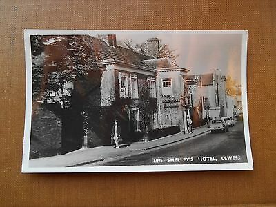 Postcard - LEWES Shelley's Hotel  RP Sussex - local publisher.