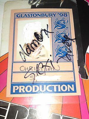Glastonbury 1998 - Backstage Pass - Signed By Blur