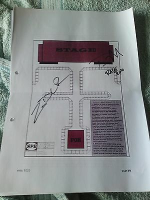Rage Against The Machine (Ratm) - Signed Page From Tour Rider 2010