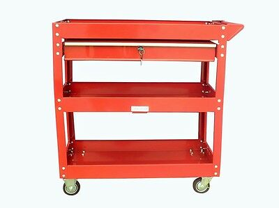 91 Us Pro Tools Red Tool Cart Mobile Trolley Workstaion Box 1 Drawer