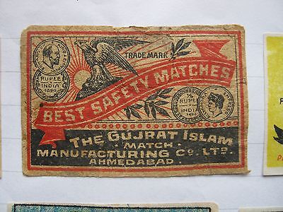 Old Indian Bird Matchbox Label.design 8.
