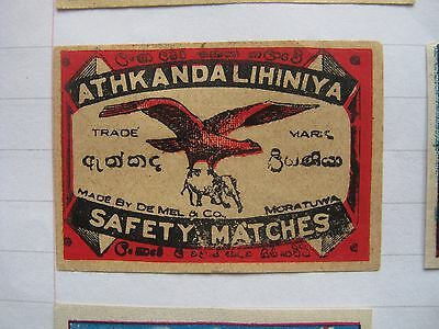 Old Indian Bird Matchbox Label.design 10.