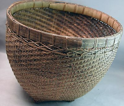 Basket Asian Fruit Wicker Container Utility Handcarved Indonesia Dayak  Ethnix