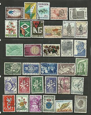 BELGIUM Lovely lot of 35 fine used Pictorials