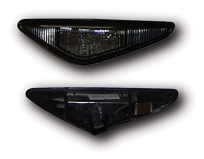 Bmw 3 Series E46 Coupe 03-06 Black Housing/smoke Lens Led Side Repeaters