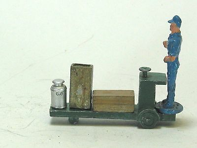 American Flyer vintage lead toy train figures station frieght cart man boxes 5p