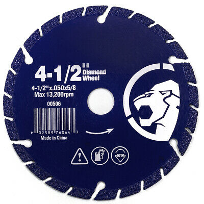 "4-1/2"" Diamond edge metal steel iron stainless Cut Off Wheel abrasive 5/8"" arbor"