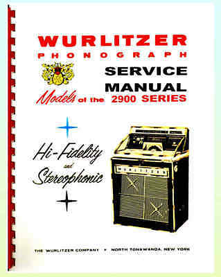 Wurlitzer 2900 Series Service Manual