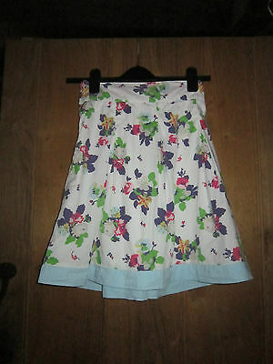 Joules Teddygirl Skirt, Creme Floral, Age 11-12, 100% Cotton