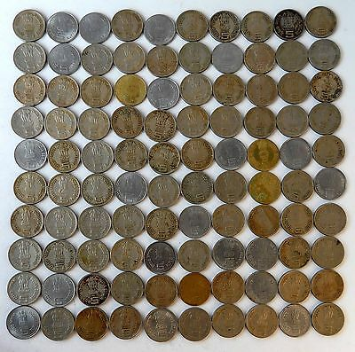 India Post Independence 100 unsorted Commorative coins of Rs.5 wholesale lot#10