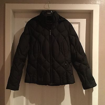 Peruna Ladies Black Feather & Down Filled Hooded Jacket Size S