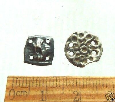 Set of 2  Ancient  Medieval  Silver Decorations  (k410)