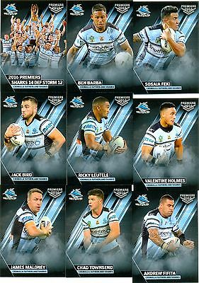 2016 NRL ESP Premiers set Cronulla-Sutherland Sharks set of 20 cards
