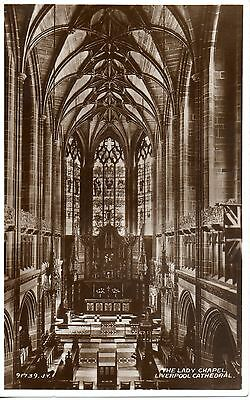 LIVERPOOL CATHEDRAL - THE LADY CHAPEL  c1930 POSTCARD