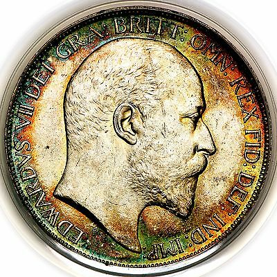 1902 King Edward VII Great Britain Silver Crown Coin PCGS MS63