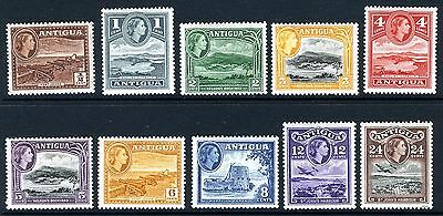 ANTIGUA 1953 SET LOW VALUES TO 24c LIGHTLY MOUNTED MINT Cat. £14