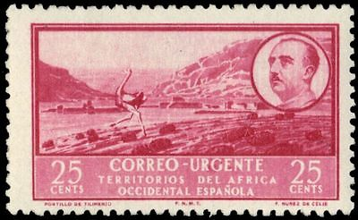 SPANISH WEST AFRICA E1 (Mi19) - Ostrich at Tilimenzo Pass (pa83483)