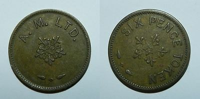 Old Sixpence Token - A.m. Ltd