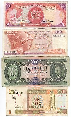 Nice Mixture of 10 used World Banknotes All Scanned Lot 3