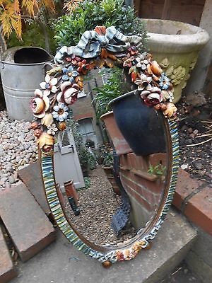 Outstanding Grand Bevelled Glass Huge Barbola Mirror Just Stunning And Rare