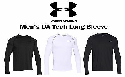 New Under Armour 1264088 Men's UA Tech Long Sleeve Shirt - Athletic Apparel