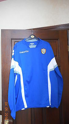 Mens Rugby Shirt - Wakefield Trinity Wildcats - Long Sleeve - Macron - Size M