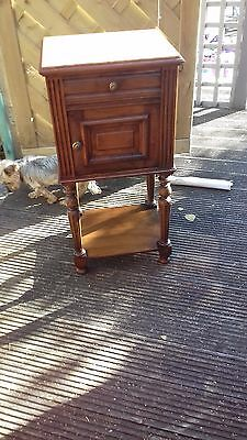 French Marble Top  Bedside/bathroom Cabinet,