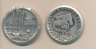 Seattle World's Medal - World Of Science -1962- Scarce .999 Pure Silver!