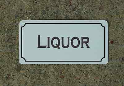 "LIQUOR 6""X12"" Tin Metal Sign Vintage Style Design for Kitchen Bar Decor"