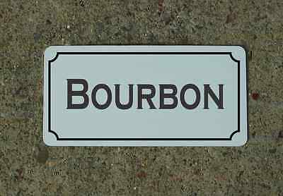 "BOURBON 6""X12"" Tin Metal Sign Vintage Style Design for Kitchen Bar Decor"