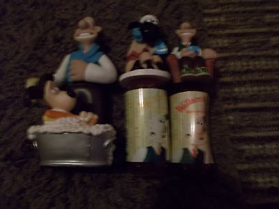 Three Very Rare Wallace And Gromit Bubblebath Containers Good Condition