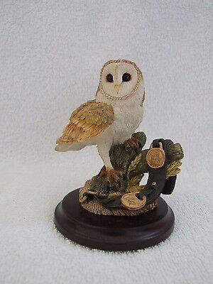 Country Artists Barn Owl Sculpture With Box