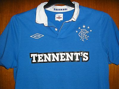 Rangers Football Shirt Umbro Home Shirt size S 36/38