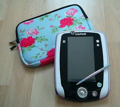 Pink Leappad 2 Explorer with new floral case and original stylus