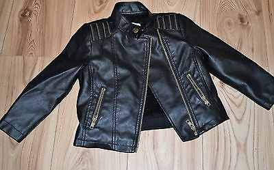 Girls Leather style Jacket , Matalan Label, Age 4-5, Perfect condition