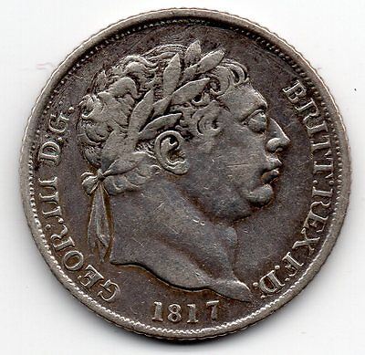 1817 GEORGE III Sterling Silver SIXPENCE Coin High Collectable Grade