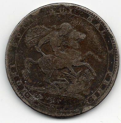 1820 GEORGE III Sterling Silver CROWN Coin