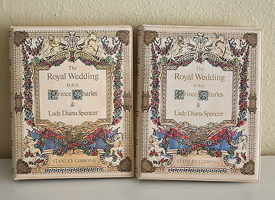 2x 1981 STANLEY GIBBONS Royal Wedding Stamps Collection Albums Complete
