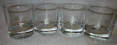 New 4 X Disaronno Branded Glass Tumblers