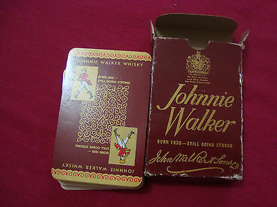 Collectable Vintage Johnnie Walker Playing Cards