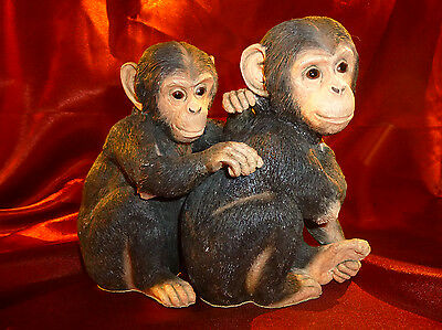 RARE Country Artists Chimp Pair Young & Cheeky 02317 Excellent realistic figure