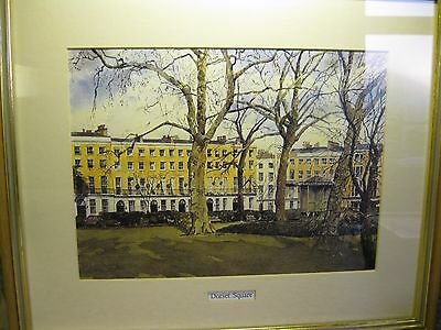"""A """"dorset Square - London"""" Mounted & Framed Signed Print."""